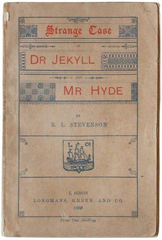 Strange Case of Dr Jekyll and Mr Hyde by Robert Louis Stevenson, 1886