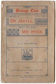 Strange Case of Dr Jekyll and Mr Hyde by Robert Louis Stevenson, 1886