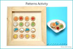 Thrive 360 Living: A Simple DIY Game for Teaching Patterns - With a focus is on early math concepts, such as counting, shapes, measurements, sequences, and patterns.