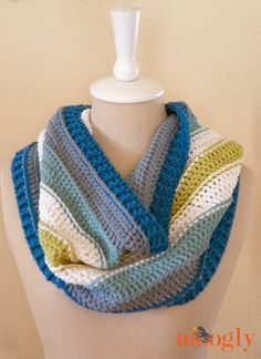 """Check out the """"All Grown Up Cowl' @moogly made with our Cotton-Ease yarn. Perfect for crafters who have wool allergies."""