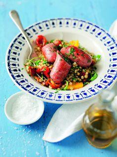 Matvetesallad med salsiccia