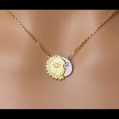 Jewelry - Sun and moon necklace crescent moon necklace