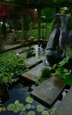 , 34 Fantastic garden with water garden design ideas [. , 34 Fantastic garden with water garden design ideas Small Japanese Garden, Japanese Garden Design, Japanese Gardens, Japanese Water, Pond Landscaping, Ponds Backyard, Garden Ponds, Koi Ponds, Landscaping Design