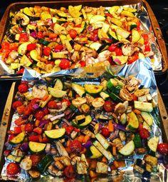 balsamic roasted veggies roasted veggies clean vegetable ideas vegetables for kids balsamic vinegar 21 day fix vegetable recipes Grilled Veggies, Healthy Vegetables, Recipes For Vegetables, Grilled Vegetable Marinade, Grilled Zucchini Recipes, Healthy Recipes, Vegetarian Recipes, Healthy Meals, Vegetable Dishes
