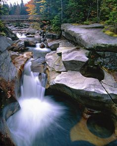 ✮ Waterfall on the Ammonoosuc River near Mount Washington, New Hampshire. awesome!
