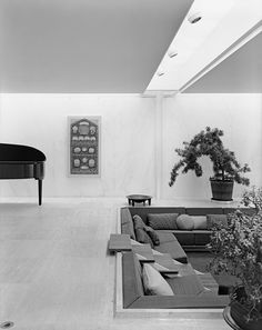 Irwin and Xenia Miller House, Columbus Ind., by Eero Saarinen. Remember conversation pits?