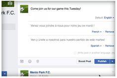 Facebook nos permitirá publicar en varios idiomas