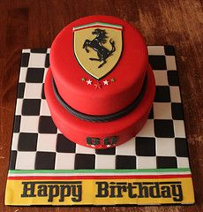 Know a guy whose birthday is coming up? Check out these boys birthday cakes to get some inspiration from music to sports themed cakes. Ferrari Cake, Ferrari Party, Renn Kuchen, Car Cakes For Men, Easy Birthday Desserts, Racing Cake, Birthday Cake For Him, Car Birthday, Sports Themed Cakes