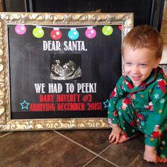 Pin for Later: The Cutest Holiday Pregnancy Announcement Ideas We've Seen Dear Santa Peek Photo Prop Dear Santa photo prop ($4)