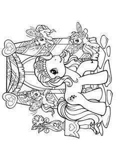Coloriage De Pouliche Licorne.148 Meilleures Images Du Tableau Mes Petites Pouliches My Little