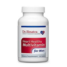 Dr Sinatras Heart Healthy Multivitamin for Men 90 Tablets 30day Supply * Find out more about the great product at the affiliate link Amazon.com on image.