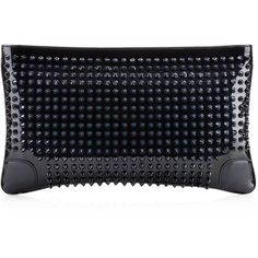 Christian Louboutin Loubiposh Clutch ($995) ❤ liked on Polyvore featuring bags, handbags, clutches, blue khol, new arrivals, blue shoulder bag, chain shoulder bag, patent leather purse, chain purse and patent leather shoulder bag
