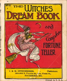 """the witches dream book and complete fortune teller, i & m ottenheimer, series of """"joke books"""" Halloween Books, Halloween Images, Holidays Halloween, Vintage Halloween, Halloween Fun, Which Witch, Season Of The Witch, Dream Book, Fortune Telling"""
