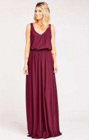 Kendall Maxi Dress ~ Merlot Chiffon