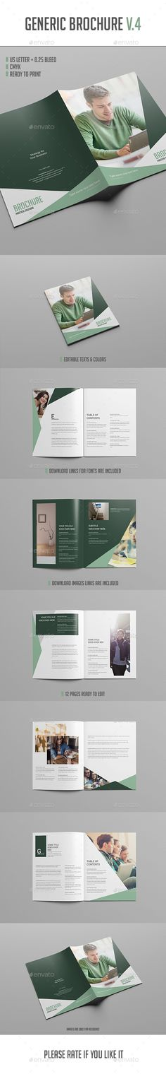 Brochure Template Vol.4 — InDesign INDD #professional #resume • Available here → https://graphicriver.net/item/brochure-template-vol4/16583364?ref=pxcr