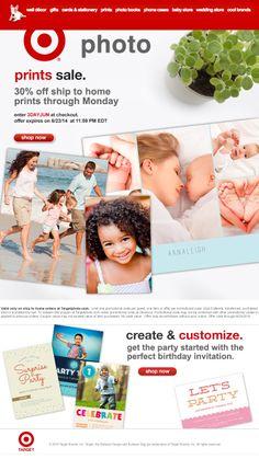 Saving 4 A Sunny Day: 30% Off Photos At Target