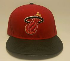 Preowned Miami Heat snapback hat adjustable size red new era good condition…