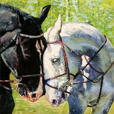 Bridled Love - Paintings by John Lautermilch a horse picture for those, like me, who do not usually like horse pictures