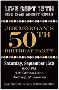 Bob's 50th Birthday Invitations