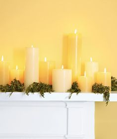 Easy Ways to Reduce Holiday Stress Gold Christmas, Christmas Colors, Winter Christmas, Christmas Holidays, Christmas Decorations, Xmas, Living Room Candles, Candle Store, Yellow Cottage