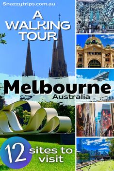 12 Must-See Places In Melbourne - a self-guided, one-day walking tour around the city. Places In Melbourne, Visit Melbourne, Travel Stuff, Places To Travel, Travel Guides, Travel Tips, New Zealand Travel Guide, Australia Travel Guide, Travel Activities