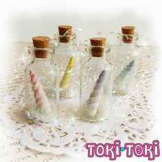 Unicorn Horn Necklace Bottle Necklace Unicorn by MadeByTokiToki