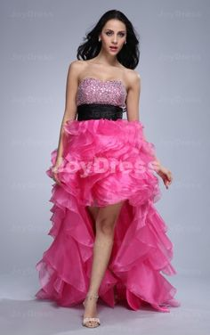 Ruffle Ball Gown Sweetheart Asymmetrical Dress  £82.00  www.joydress.co.uk