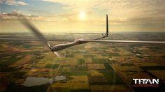 Image: Artist rendering of a Solara 50 drone from Google's Titan Aerospace