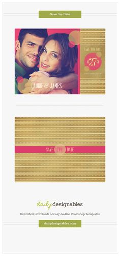 photoshop templates for photographers, designers & the creative in everyone #dailydesignables