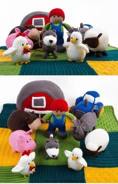 Baby Knitting Patterns Free Knitting Patterns for Farmyard Favorites - Designed by ...