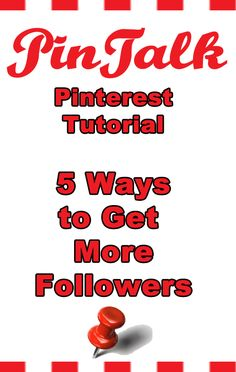 5 ways to INCREASE YOUR FOLLOWERS ON PINTEREST. Here are ways to increase your following to increase your re-pins