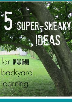 5 super sneaky ideas for fun backyard learning | #weteach teachmama.com