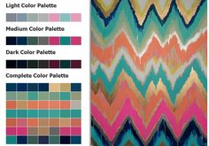 Seaside Beach Stripe Blue - color palette OFFICE COLOR PALETTE ...