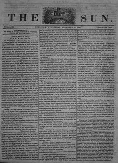 The first issue of the first daily newspaper in the U.S is published
