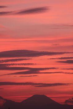fuji sunset Japan