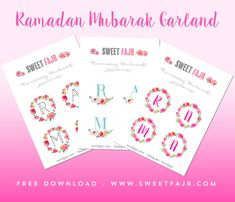 Ramadan crafts! Free printable Ramadan Mubarak Garlands