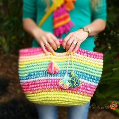 The Ropey Rainbow Basket - free tutorial