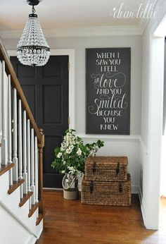 Entryway wall decor ideas best on hallway home designer pro serial foyer farmhouse idea diy foye . search results for entryway wall decor foyer small . Fresh Farmhouse, Farmhouse Style, Farmhouse Signs, Farmhouse Stairs, Farmhouse Interior, Farmhouse Ideas, White Farmhouse, Table Farmhouse, Farmhouse Baskets