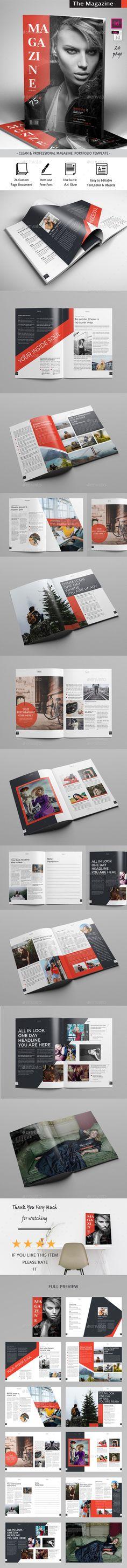 The #Magazine - Magazines Print #Templates Download here:     https://graphicriver.net/item/the-magazine/20457899?ref=alena994