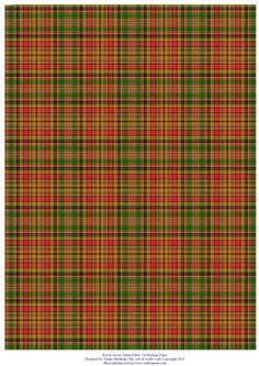 Red and Green Tartan A4 Backing Paper on Craftsuprint designed by Elaine Sheldrake - Perfect backing paper for matting cards and scrapbooking. - Now available for download!