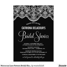 Moroccan Lace Pattern Bridal Shower Invitation