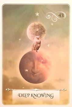 Deep Knowing, from the Wisdom Of The Oracle Card deck, by Colette Baron-Reid