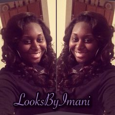 Deep conditioning , blow out and curled to perfection #LooksByImani imanigunn@gmail.com #SavannahGa