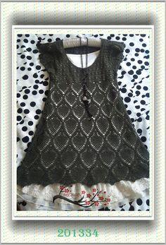 军绿菠萝裙 - Malinda - Malinda的编织博客