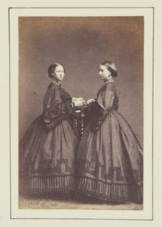 Princess Helena and Princess Louise, 1862 [in Portraits of Royal Children Vol.6 1862-1863] | Royal Collection Trust