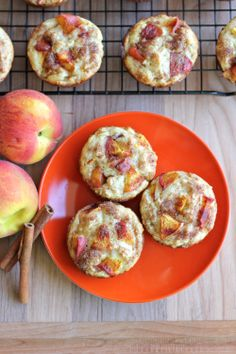 Peach Oatmeal Muffins - Damn Delicious I will change some things to make a lighter and healthier version