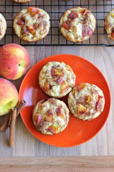 Peach Oatmeal Muffins - Damn Delicious