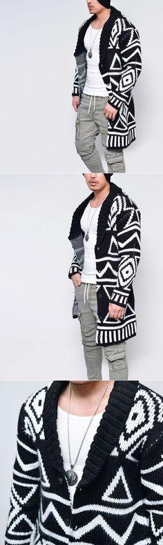 Artistic Figure Wool Shawl Jacket-Cardigan 155 - GUYLOOK