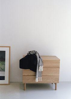 Sideboard with Sliding Doors (Natural Oak) Cube Furniture, Funky Furniture, Solid Wood Furniture, Large Furniture, Online Furniture, Sliding Wardrobe Doors, Sliding Doors, Low Sideboard, Sofa Bed Design