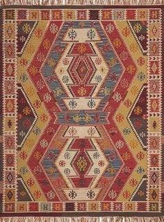 Pottery Barn Gianna Kilim Recycled Yarn Indoor/Outdoor Rug ~ 9 X 12u0027 ~